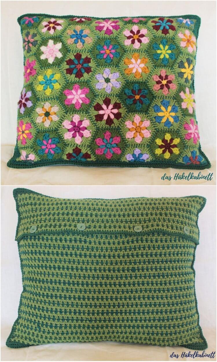 Crochet Pillow Free Pattern (44)