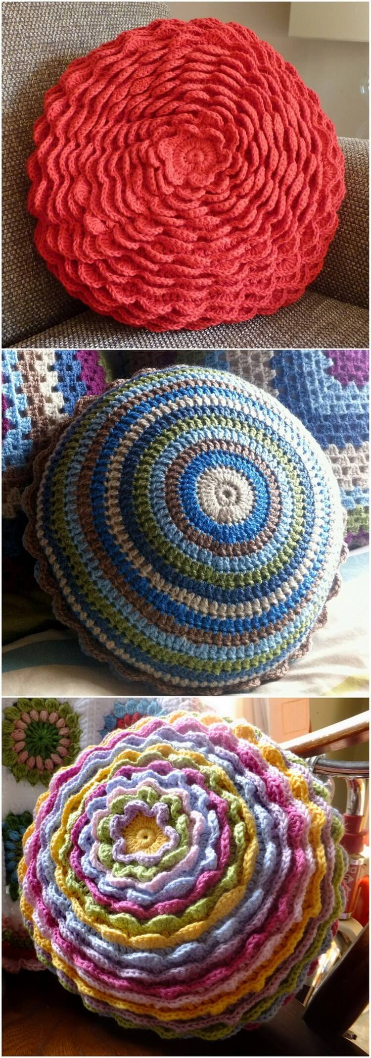Crochet Pillow Free Pattern (46)