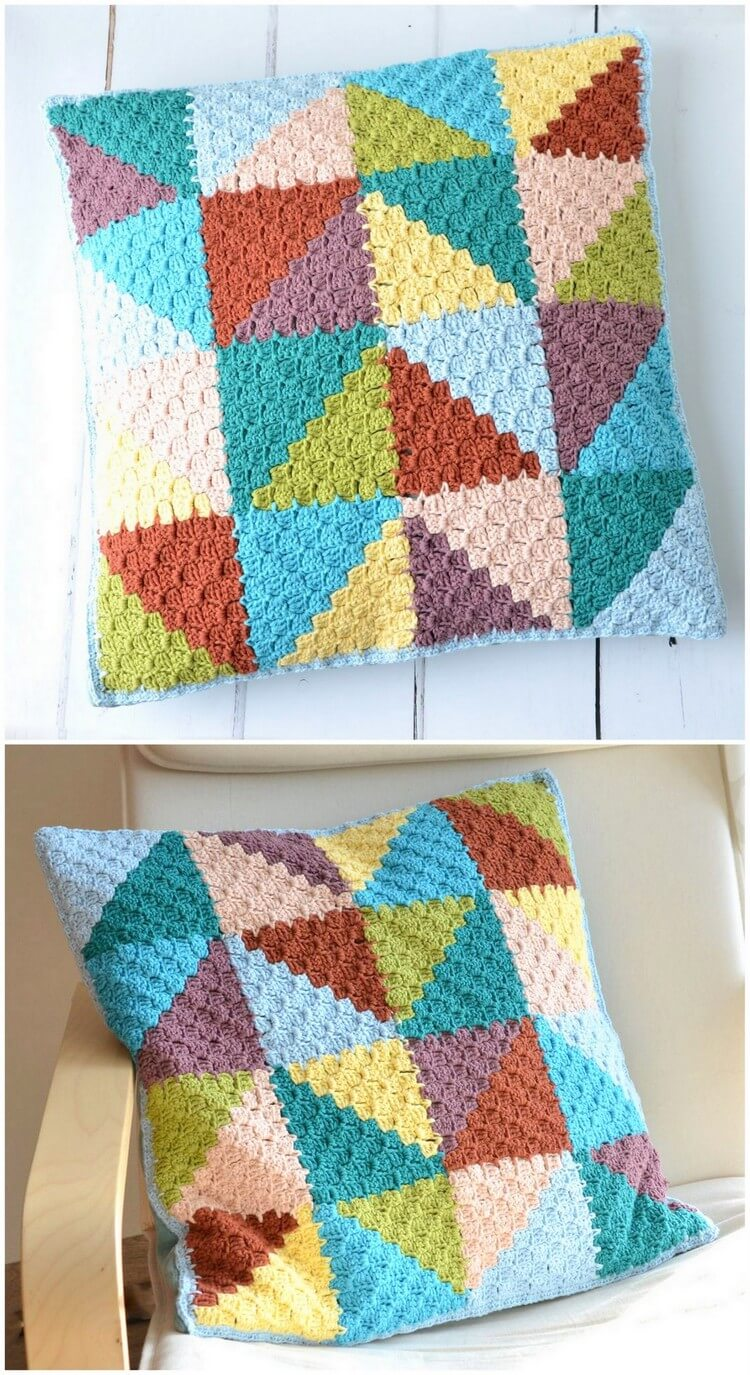 Crochet Pillow Free Pattern (55)