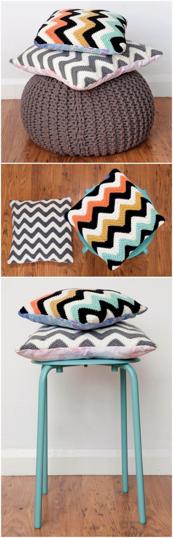 Crochet Pillow Free Pattern (61)