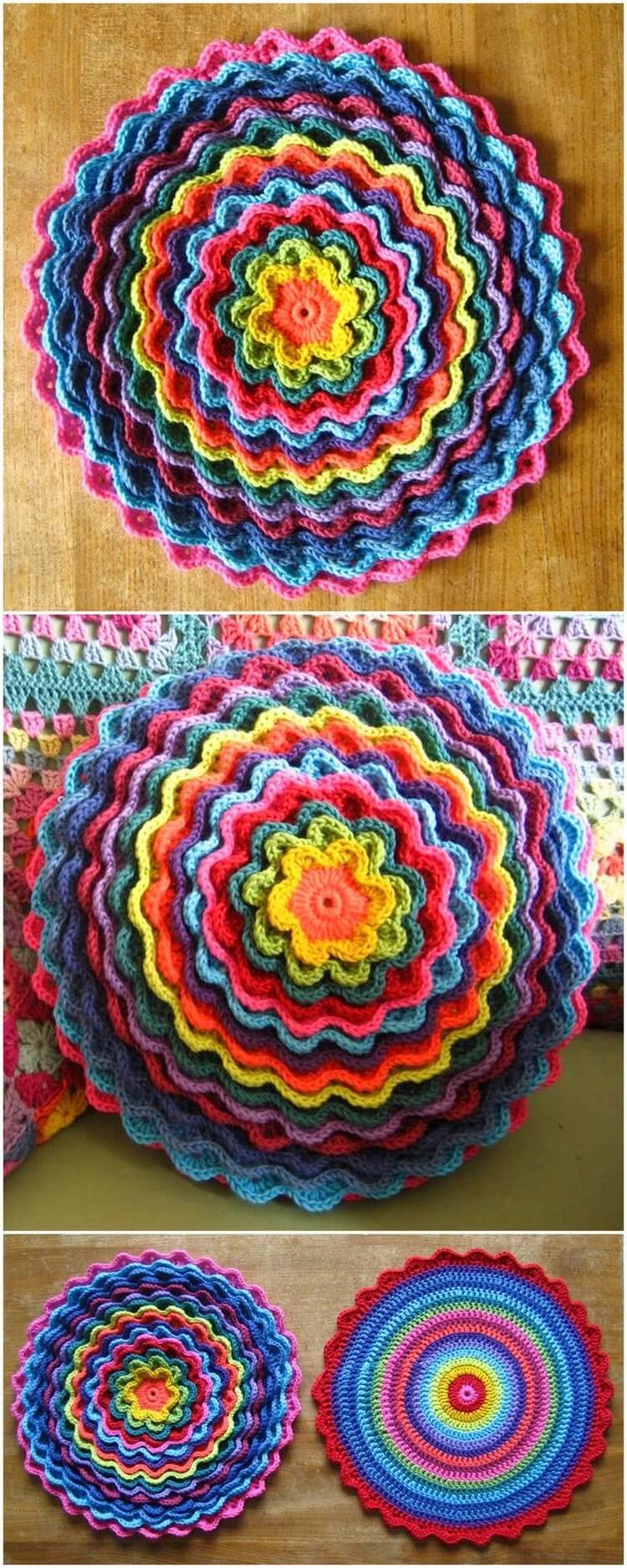 Crochet Pillow Free Pattern (65)