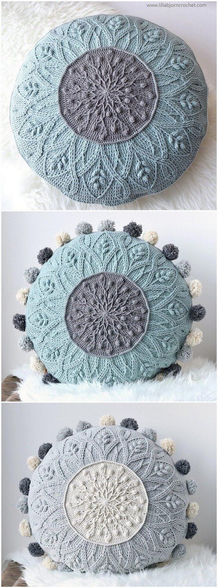 Crochet Pillow Free Pattern (71)
