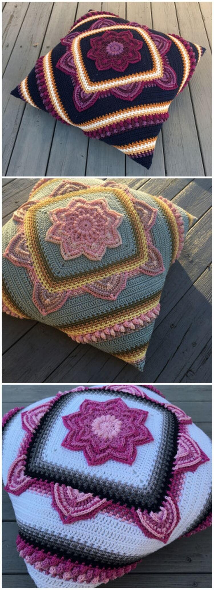 Crochet Pillow Free Pattern (8)