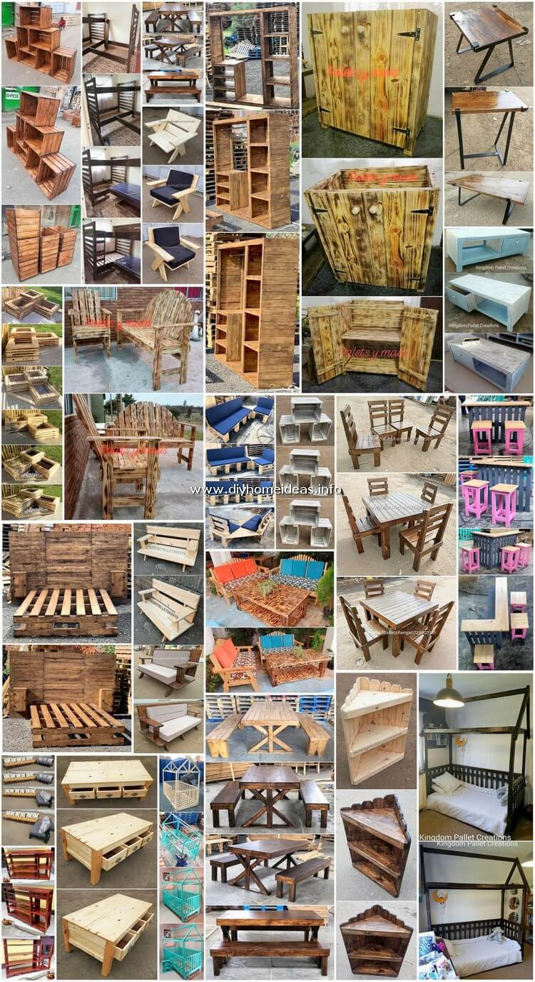 Genius Ideas Made with Recycled Wooden Pallets