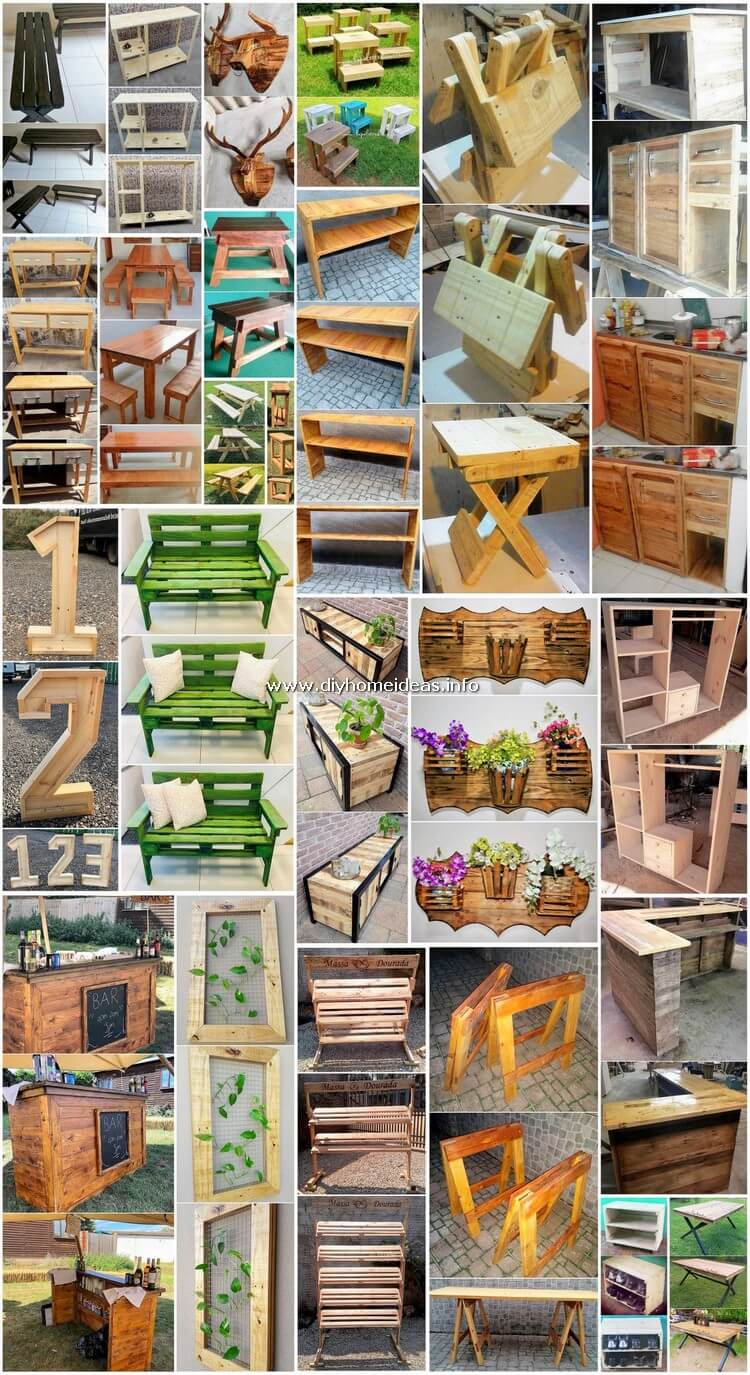 Gorgeous DIY Projects for Wood Pallets Upcycling
