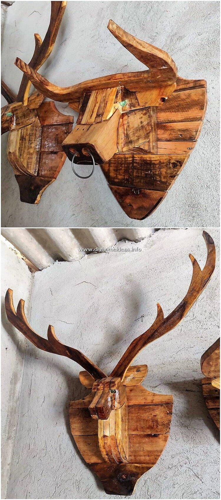 Pallet Buffalow Head Wall Decor