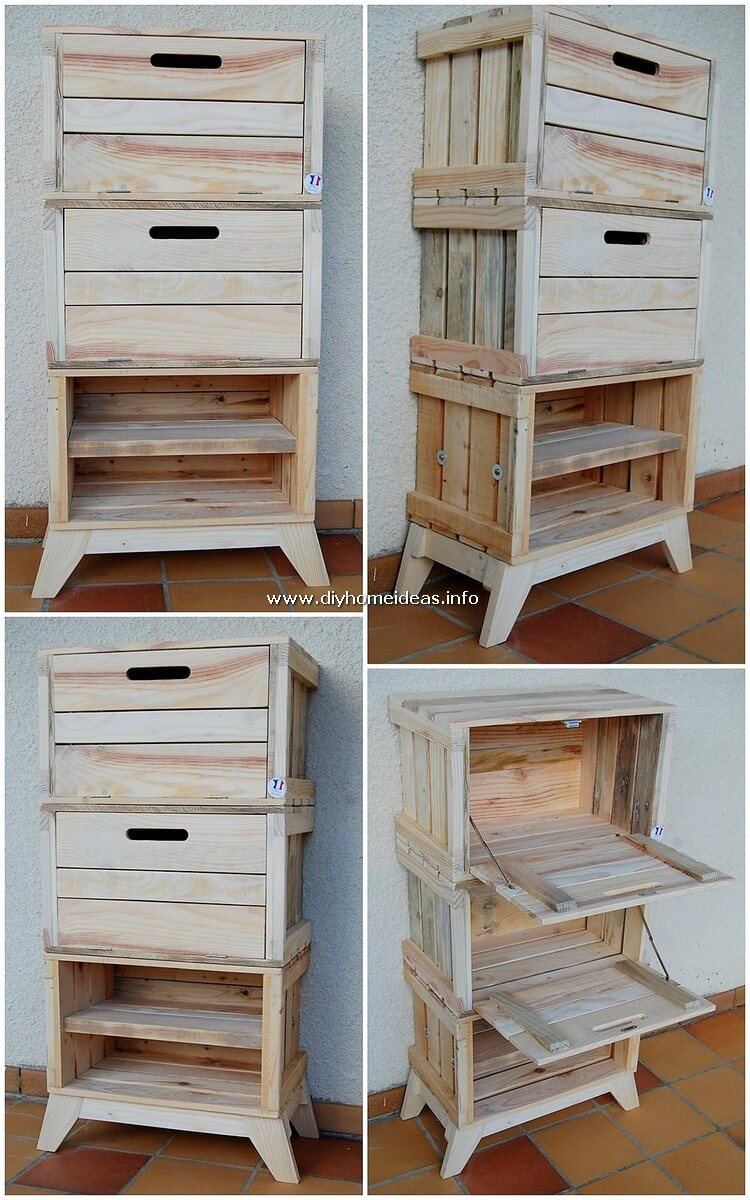 Pallet Minin Cabinet