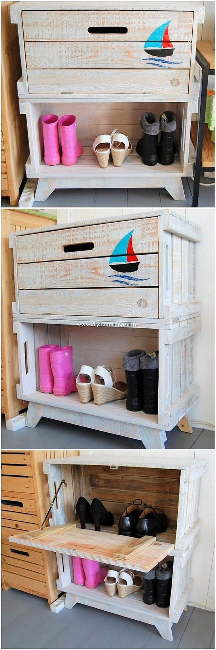 Pallet Side Table or Cabinet