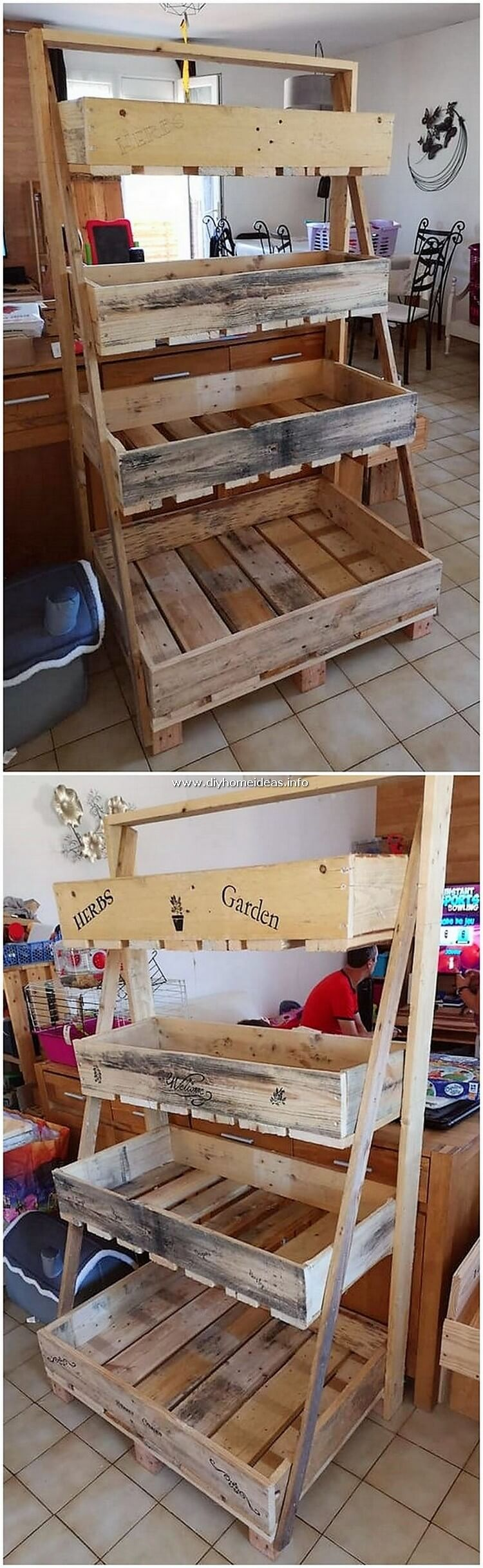 Pallet Wooden Shelving Stand
