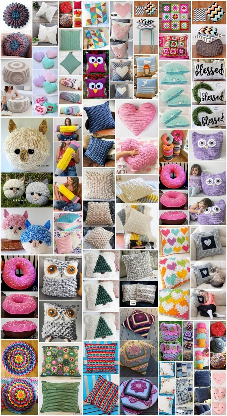 Simple and Easy Crochet Pillow Free Patterns