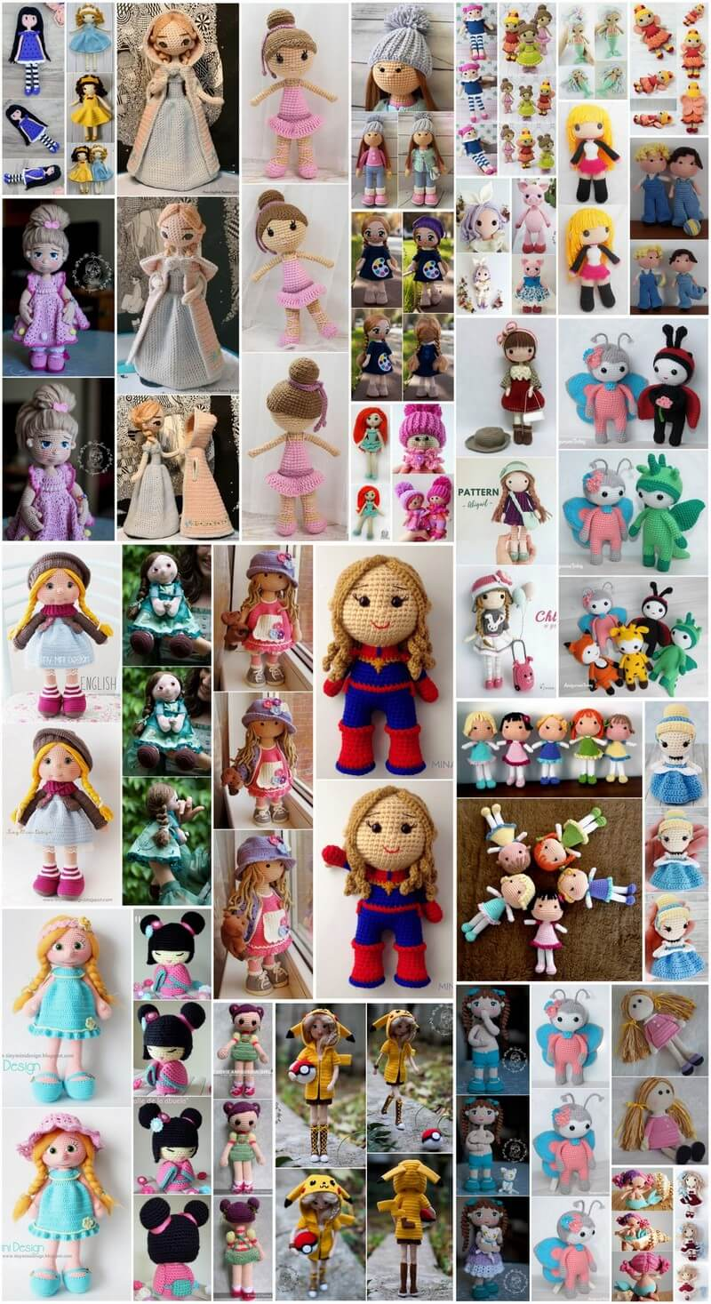 Superb and Easy Amigurumi Dolls Free Patterns