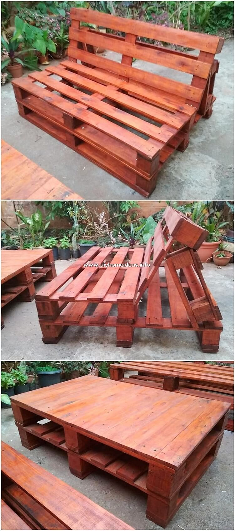Pallet Bench and Table