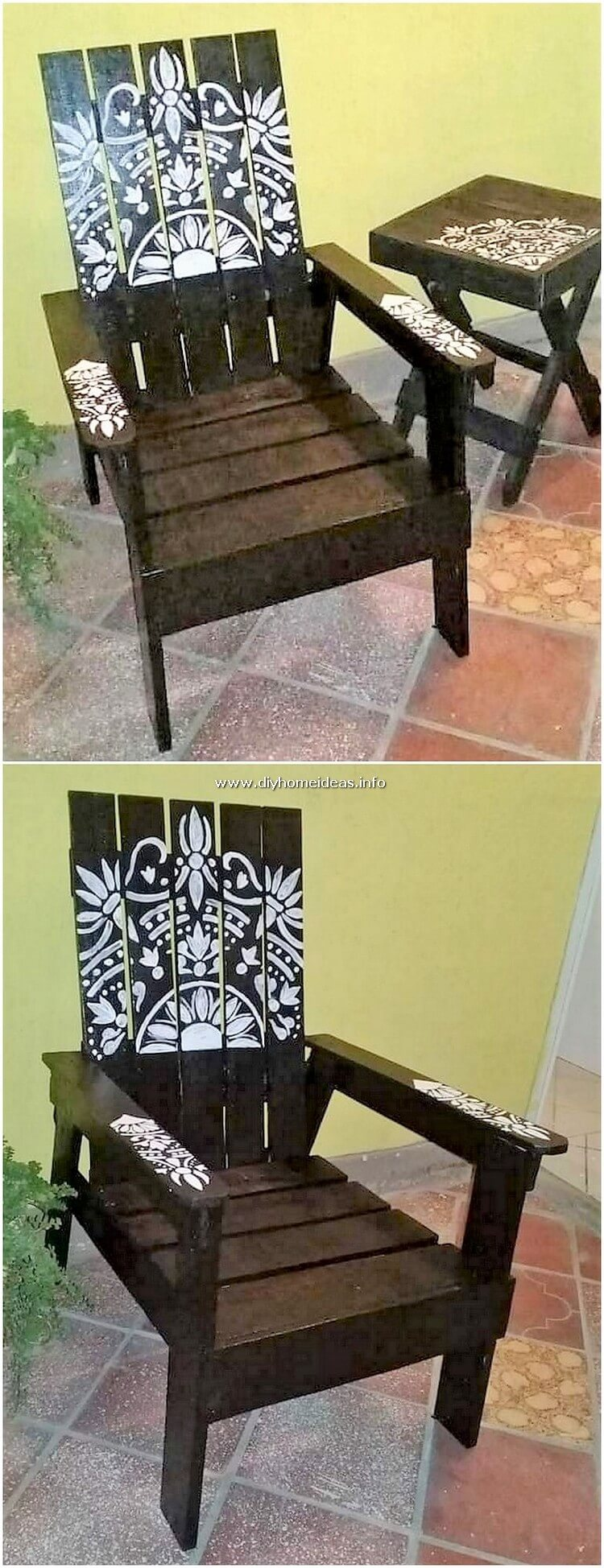 Pallet Chair and Side Table