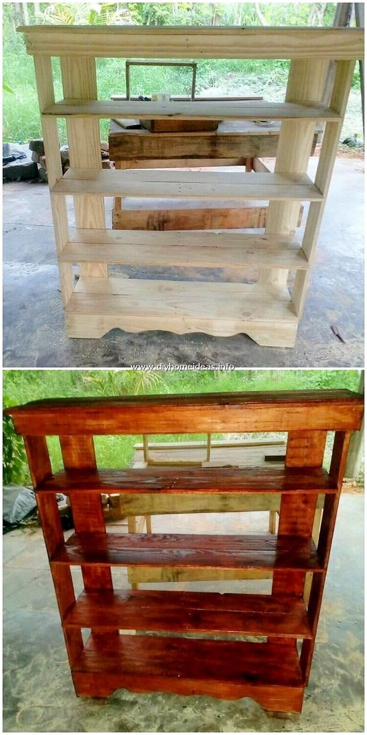 Pallet Shelving Table