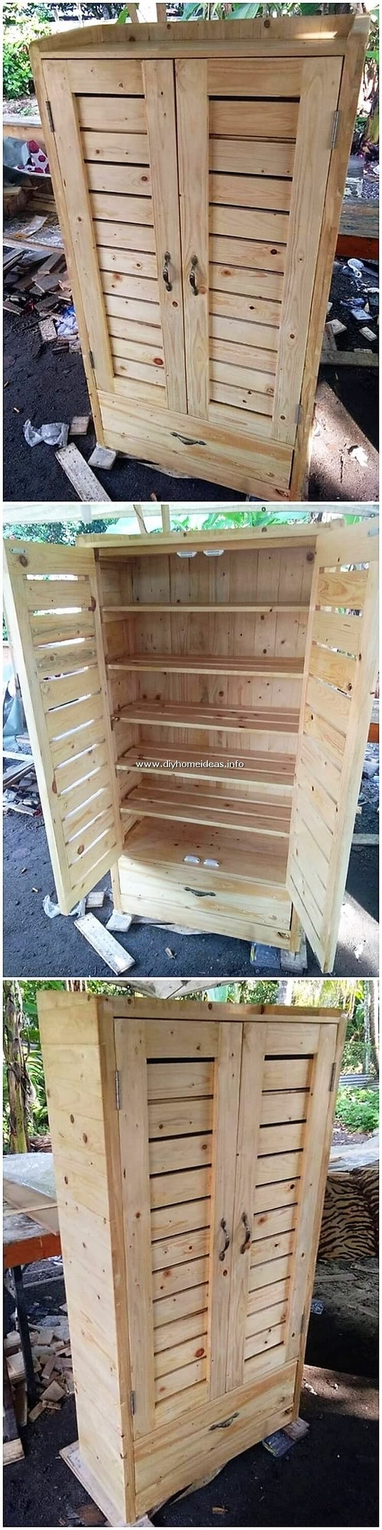 Pallet Closet or Cabinet