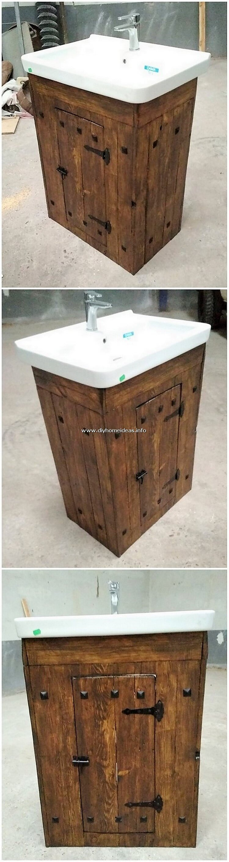 Pallet Sink with Cabinet
