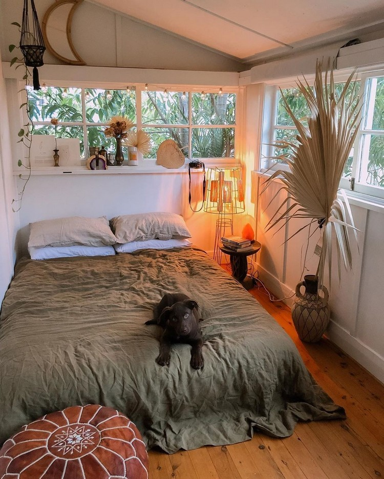 Charming Bohemian Bedroom Decor (28)
